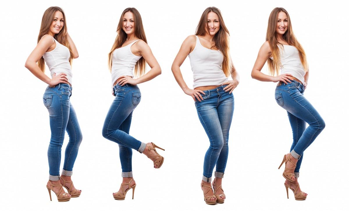 Dlhé modré jeansy